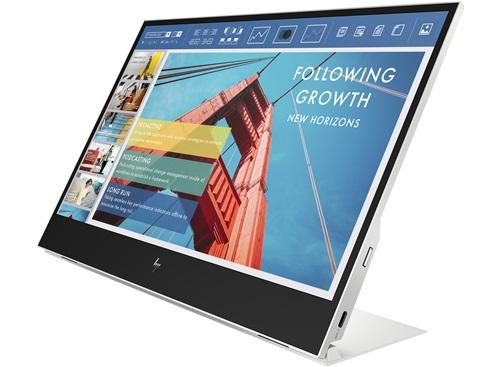HP E14 G4 portable monitor zijaanzicht